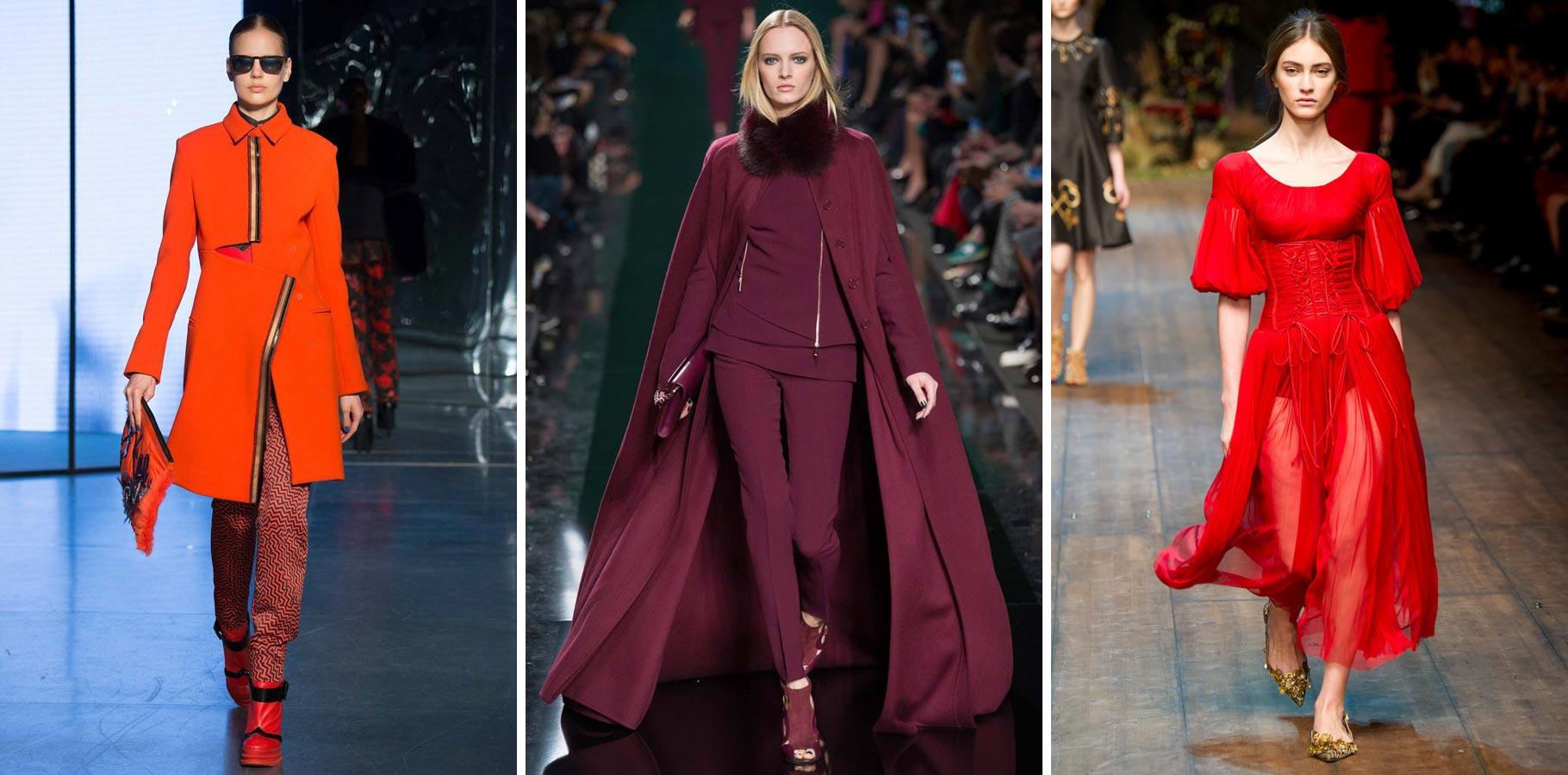 Celá v červeném – zimní módní trendy si oblíbily celočervené outfity.
