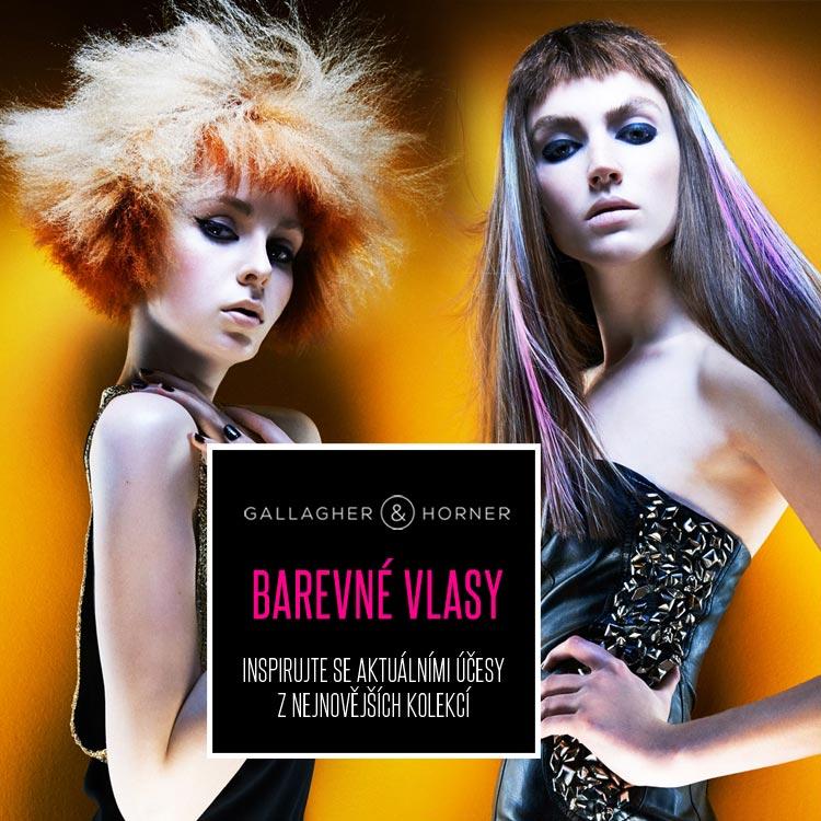 Barevné vlasy z kolekce Gallagher&Horner – Spellbound.