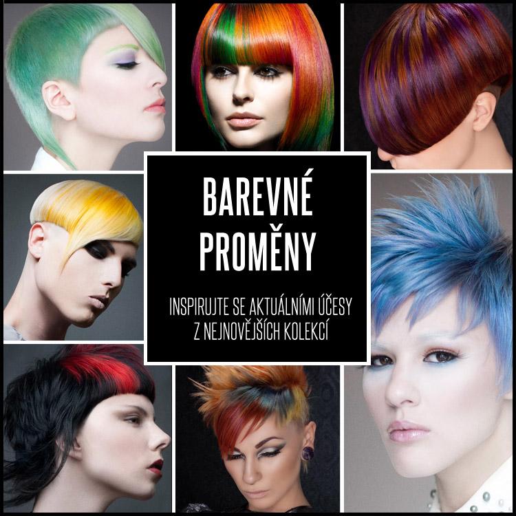 Změna barvy vlasů dokáže divy. Podívejte se, jaké skvostné účesy plné barev můžete nosit i vy!