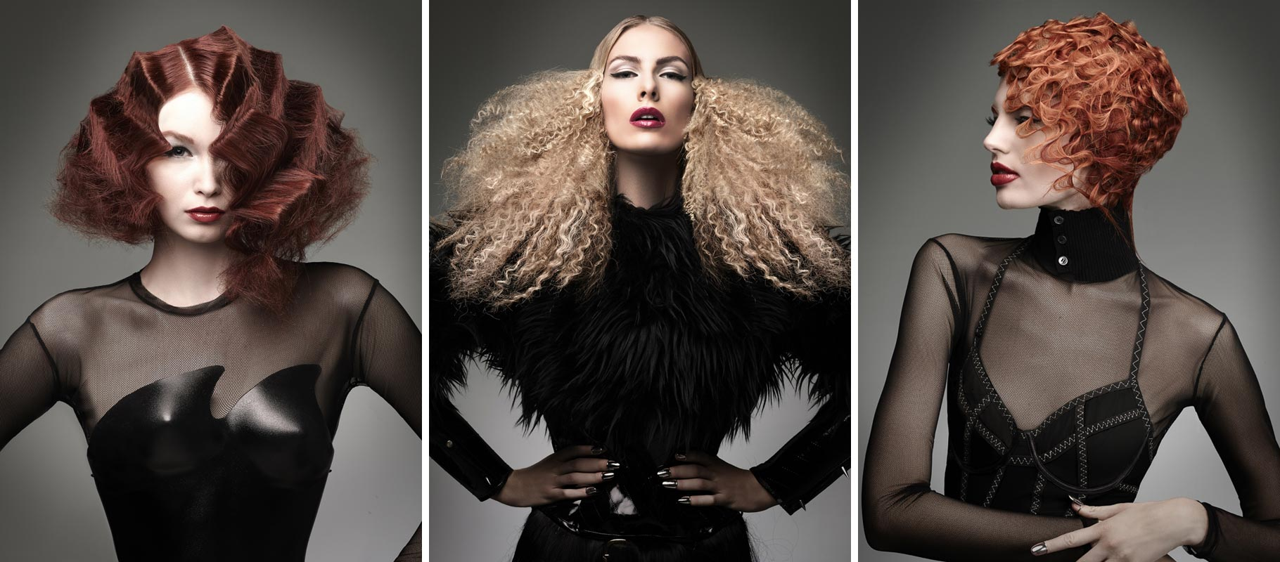 Hra s texturou vlasů dodá noblesným společenským účesům zvláštní šarm a jedinečnost. Zkuste plesové účesy 2015 ozdobit právě texturou. Inspirujte se třeba americkým designérem Dilek Onur Taylor a jeho soutěžní kolekcí NAHA 2014 v kategorii Texture.