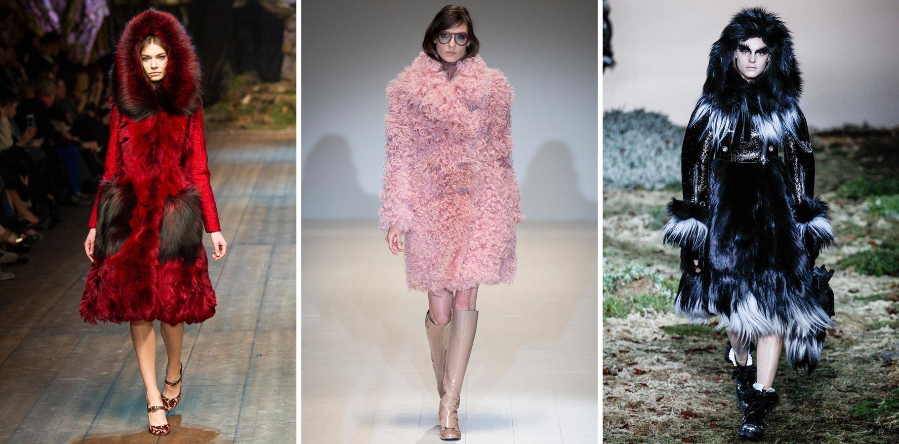 Kožešiny se v zimě 2015 nosí hodně extravagantní.