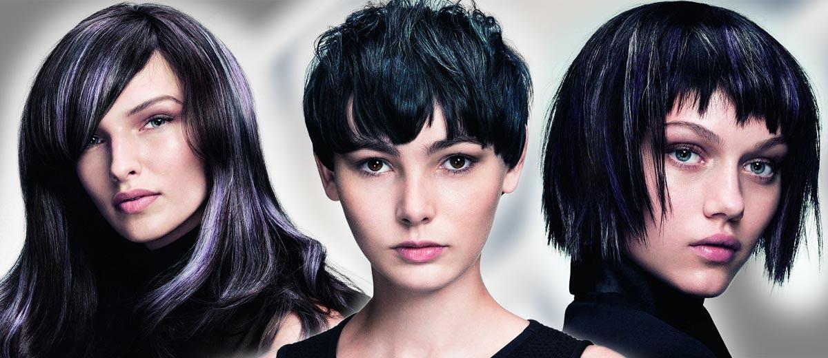Černé vlasy, které osvěží stříbrný melír, nemusí vypadat jako prošedivělé! Podívejte se na exkluzivní melíry do tmavých i černých vlasů!