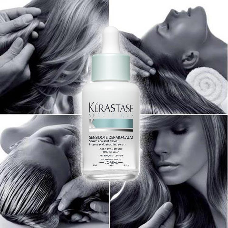 Trápí vás citlivá vlasová pokožka? Kérastase nabízí kompletní řešení v boji s citlivou vlasovou pokožkou v řadě produktů Sensidote Dermo-calm.