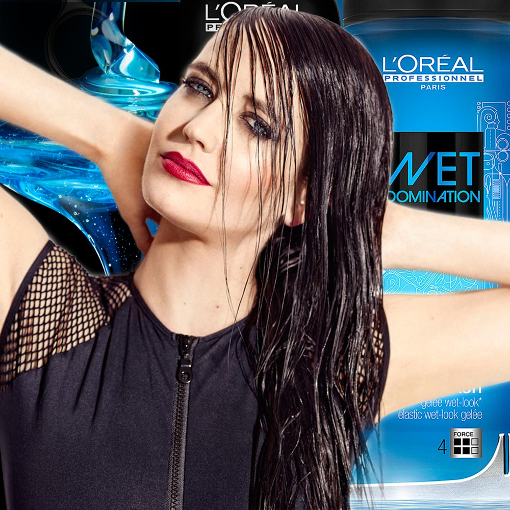 Mokrý vzhled účesu je hitem sezóny a také víme, který stylingový přípravek pro něj použít. Je z řady Techni.Art a jmenuje se Wet Domination. Tváří nové stylingové řady se stala Bond girl Eva Green.