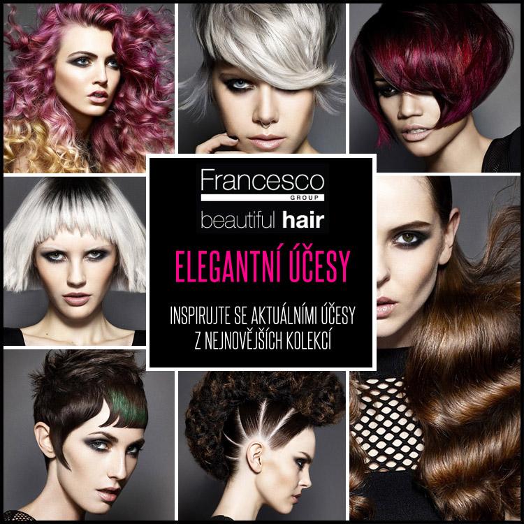 Elegantní účesy, které vás dostanou svojí barevností i nápady. (Francesco Group)