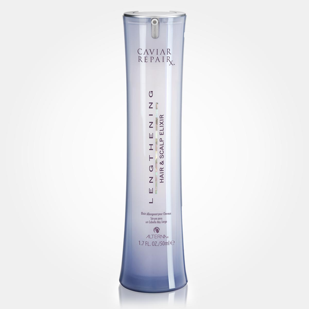 Tip jak urychlit růst vlasů: Zkuste Lengthening Hair & Scalp Elixir z řady Caviar RepairX od Alterna.