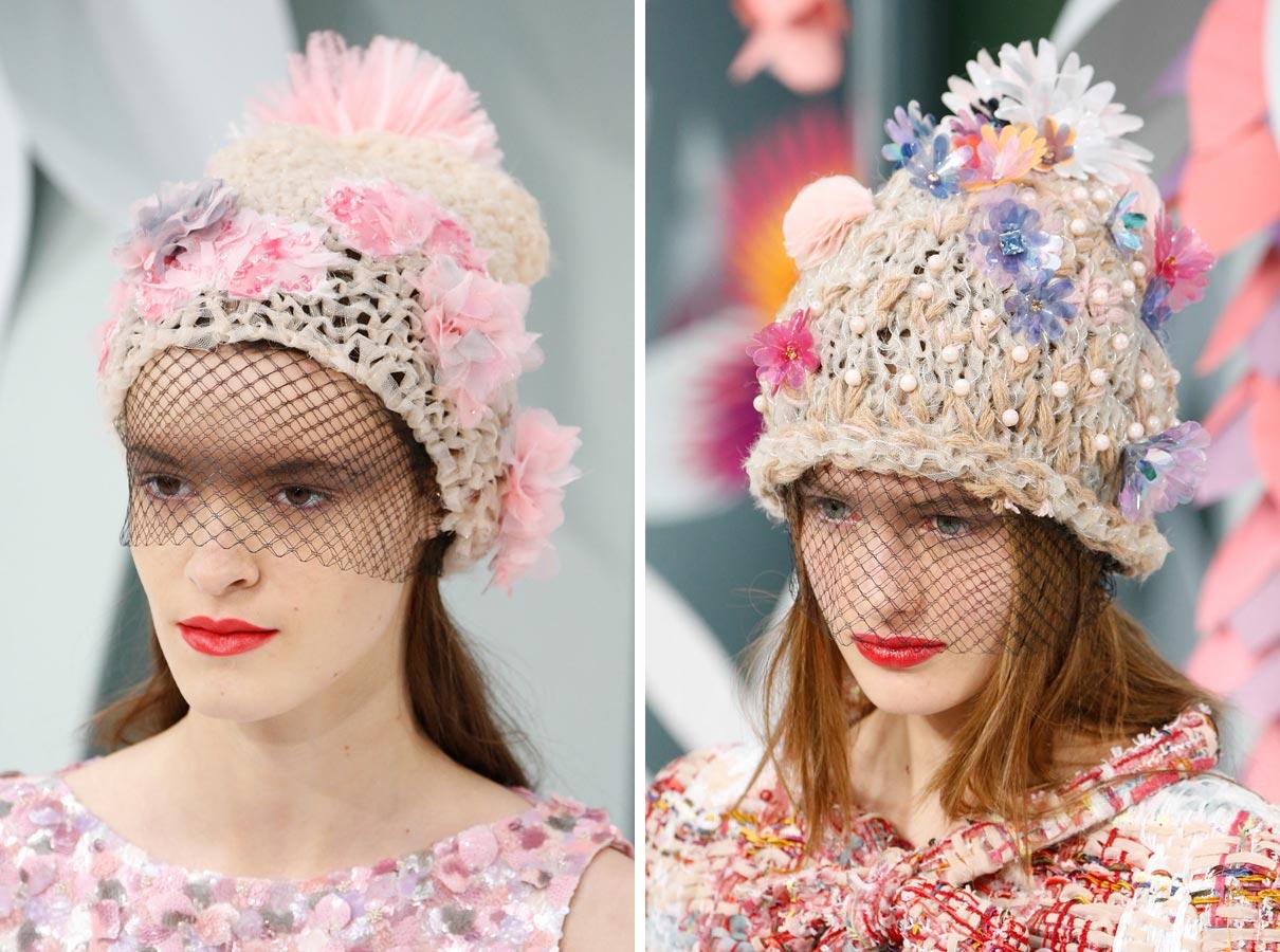 Čepice jako Haute Couture móda podle Chanel – nový hit roku 2015!