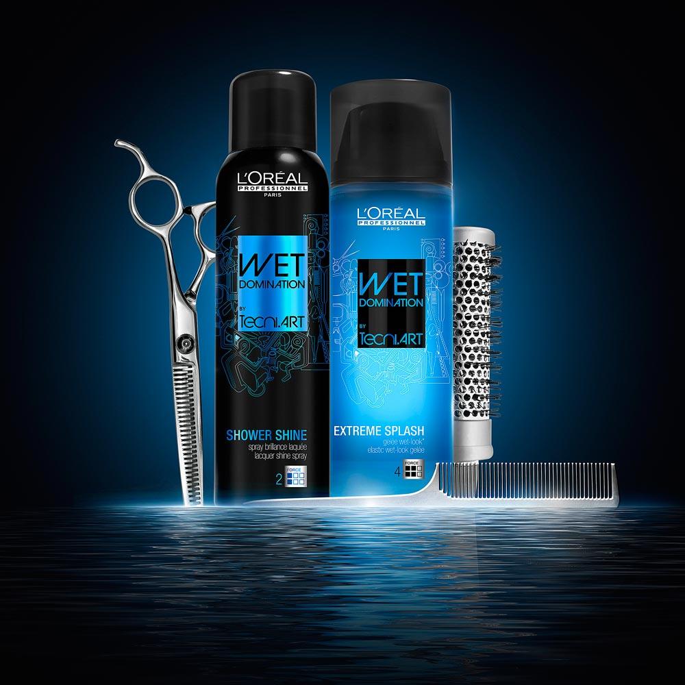 Mokré vlasy pomocí Wet Domination: zkuste módní mokrý vzhled účesu!