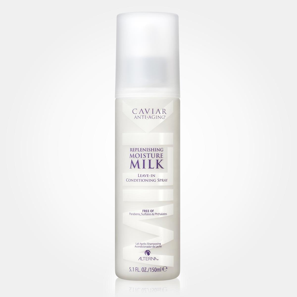 Tip na třepící se a suché vlasy: Caviar Replenishing Moisture Milk.