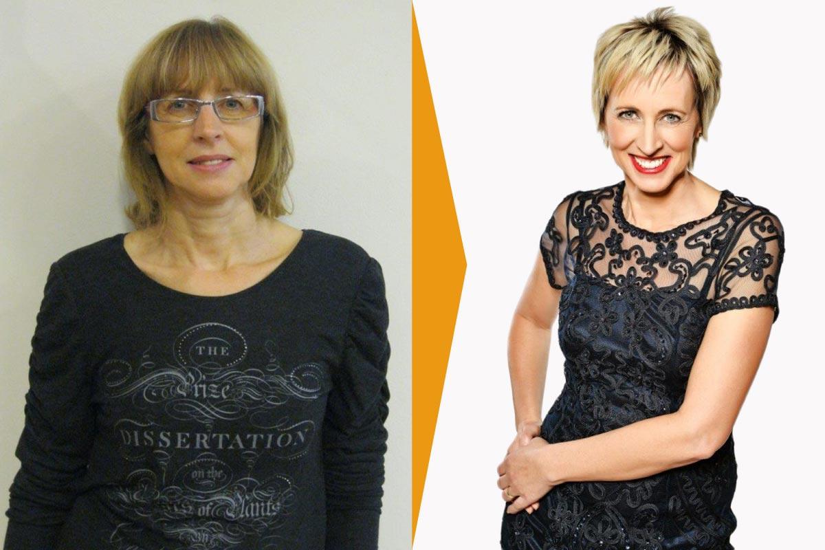 Helena Olexová (53, Ústí nad Labem), vítězka proměny: před a po.