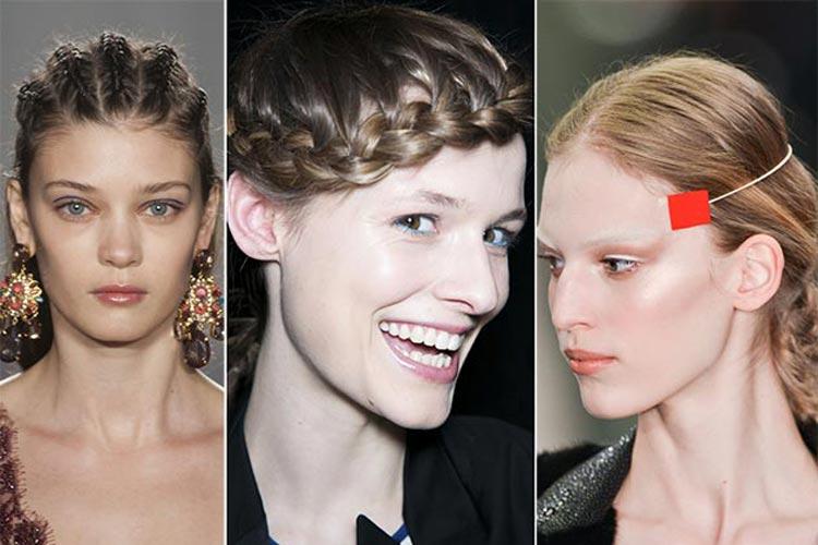 Trendy účesy zima 2015 – Pletené copánky kam se podíváš
