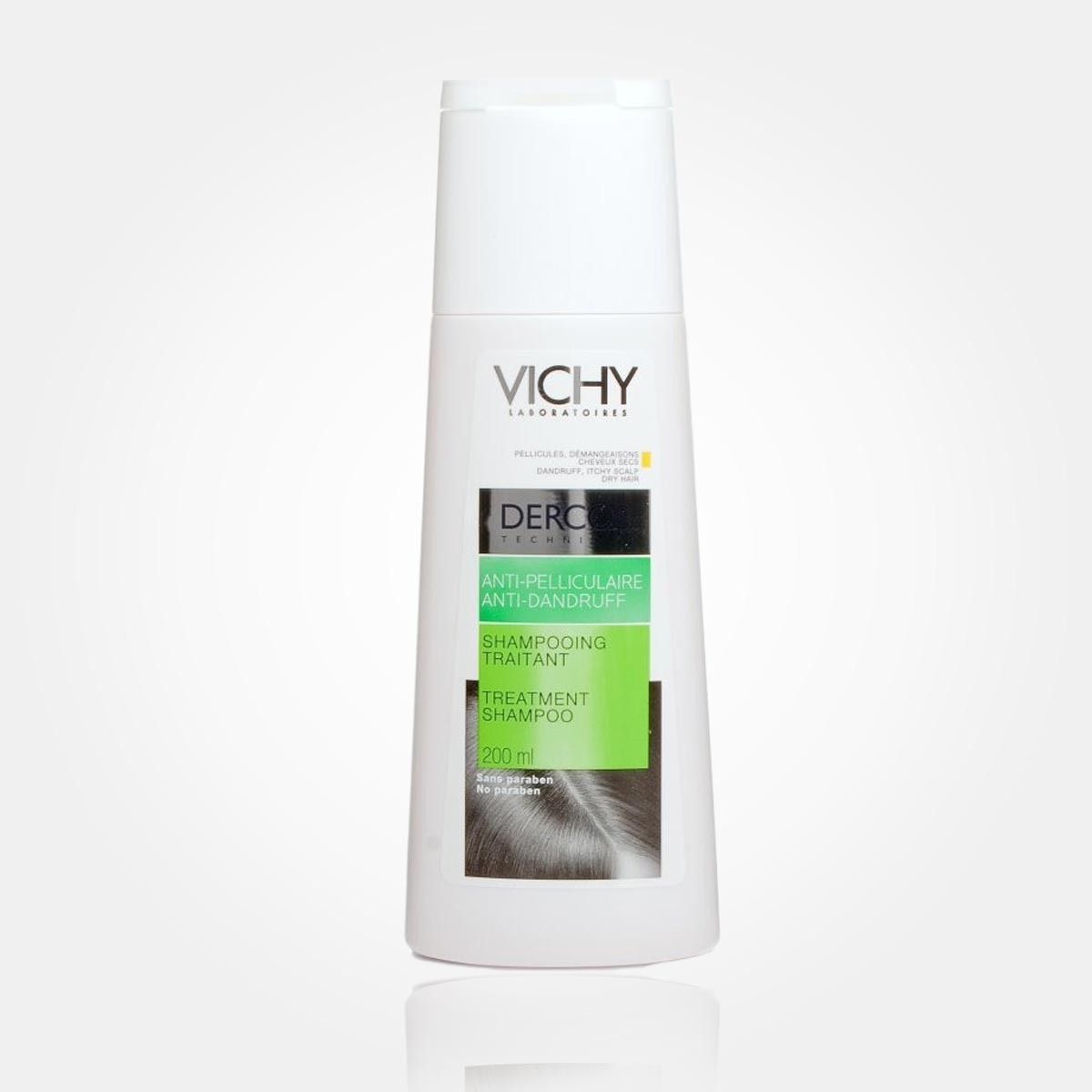 Vichy Dercos šampon proti lupům eliminuje lupy už po týdenním používání.
