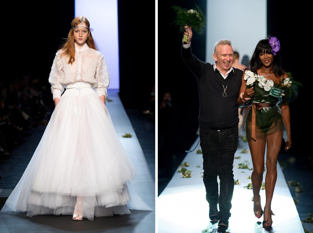Svatba jako provokace – v džínovině, v bomber bundě i ve svatebních šatech pro Amazonky. Pro Jean Paul Gaultiera není Haute Couture výzvou k představení okázalého luxusu, ale k prezentaci jeho provokativní kreativity.