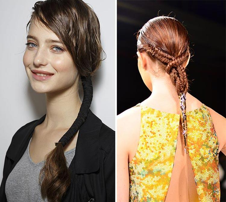 Trendy účesy 2015: Opět platí, že méně je někdy více. Tentokrát se toto tvrzení týká vlasových doplňků pro sepnutí vlasů.