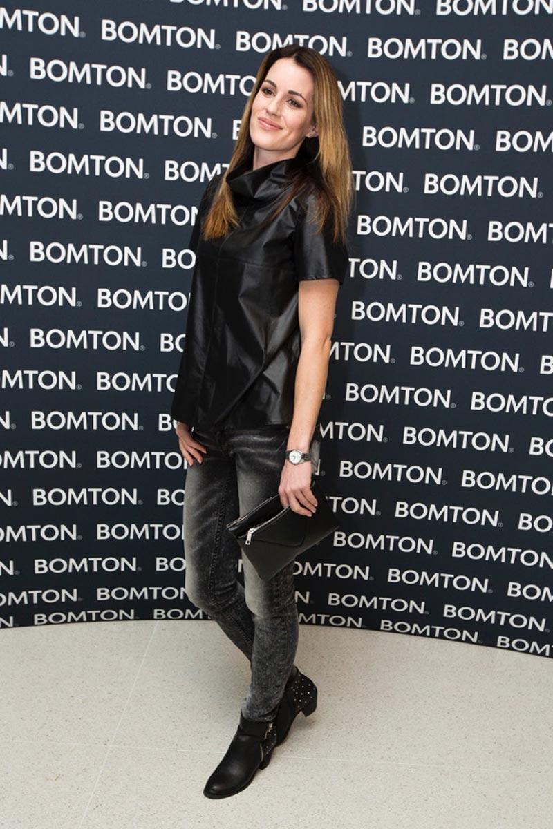 Lucie Váchová na oslavě dvacátého výročí založení BOMTON studií.