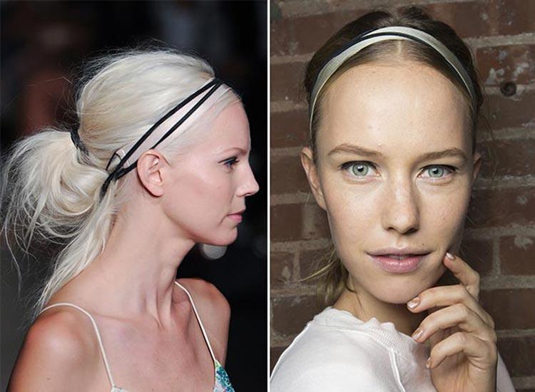 Trendy účesy 2015: Sepněte si vlasy jako balerína a ozdobte je čelenkou!