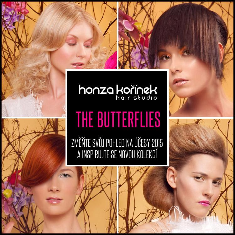 Honza Kořínek The Butterflies – nová kolekce účesů Studia Honza Kořínek pro jaro a léto 2015.