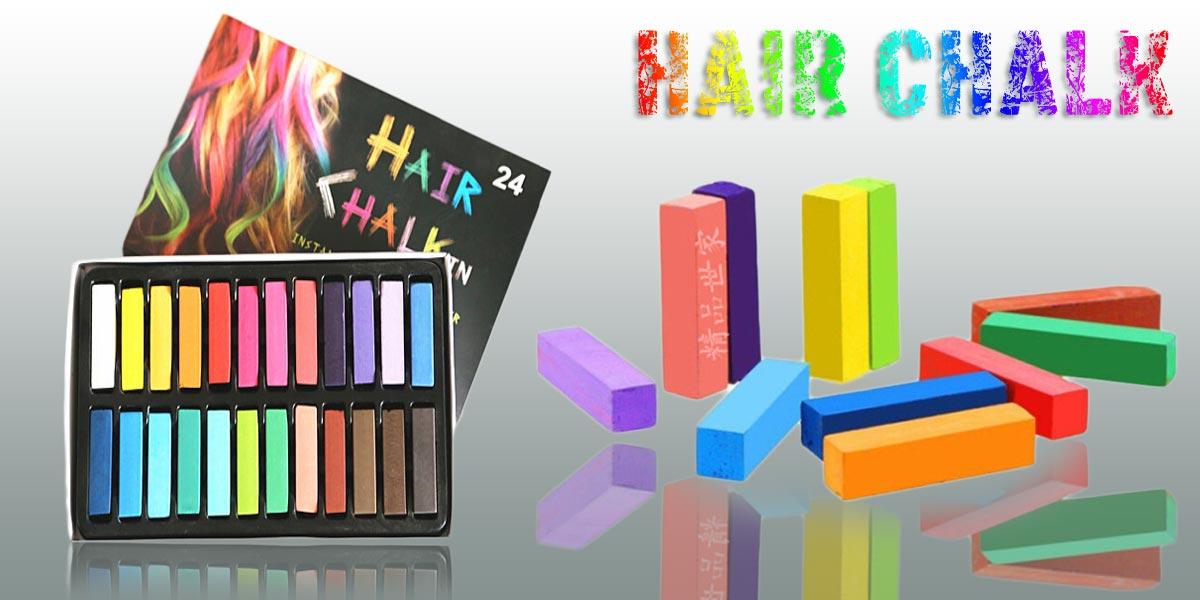 Barvené křídy na vlasy či pastelové barvy na vlasy – je s nimi skutečná zábava! Zkuste také na chvíli crazy barevné vlasy!