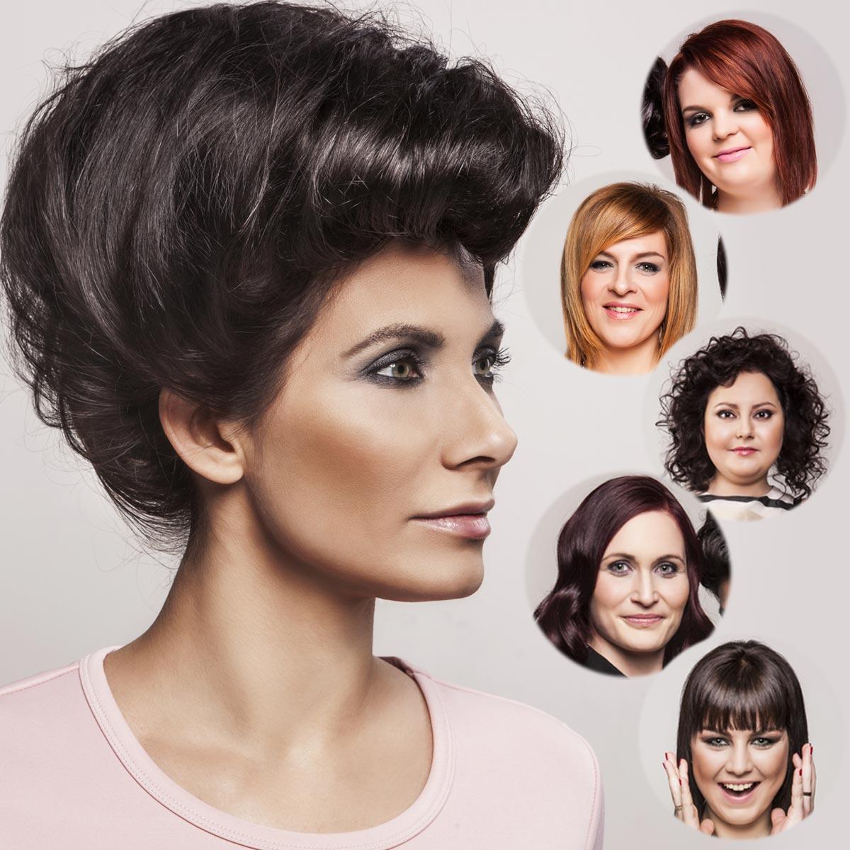 Eva Decastelo a jednotlivé účastnice – proměny NEW LOOK, nová kolekce účesů The NEW me z Hair studio Honza Kořínek.