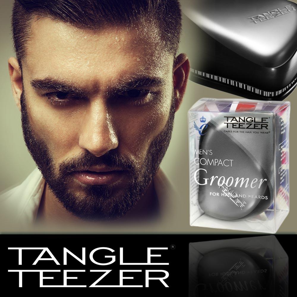 Revoluční kartáč na vlasy Tangle Teezer pro muže přináší novinku určenou speciálně mužům – pánský Tangle Teezer Compact Groomer.
