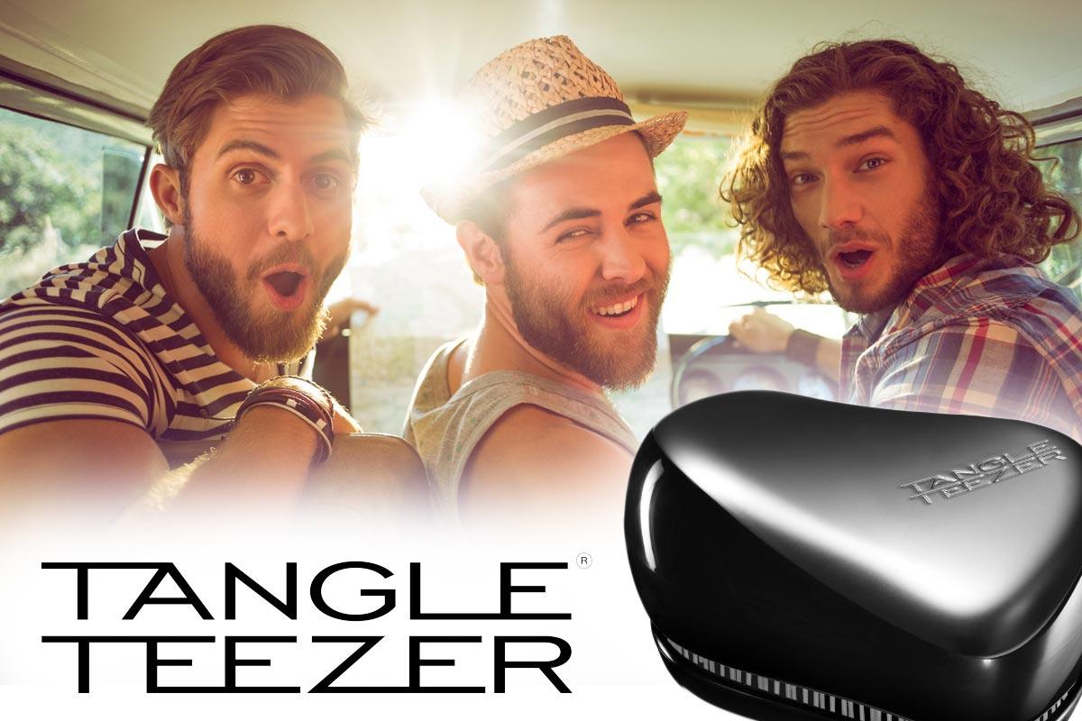 Tangle Teezer pro muže přináší revoluci do česání pánských vlasů a vousů všech typů. (Tangle Teezer Compact Groomer)