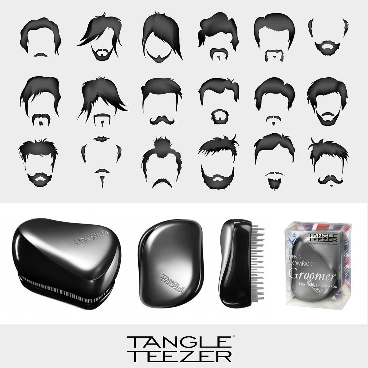 Pánský Tangle Teezer Compact Groomer hravě učeše nejen vlasy, ale také vousy.