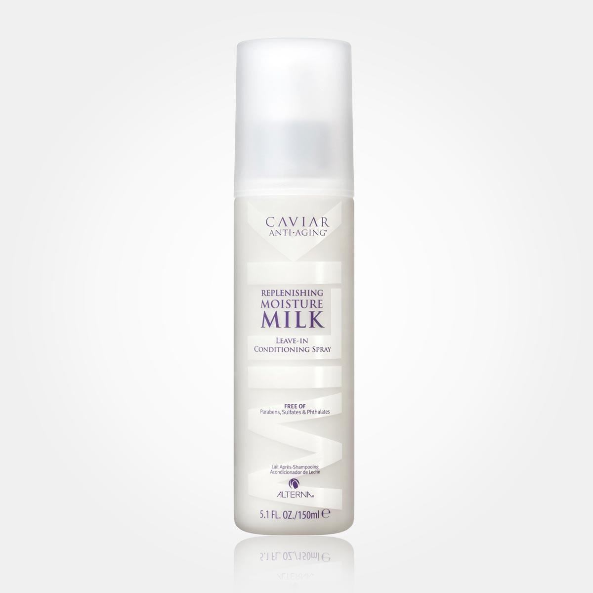 Vlny ve vlasech – místo tradičního stylingu použijte vysoce hydratační mléko ve spreji Alterna Caviar Anti-Aging Replenishing Moisture Milk.