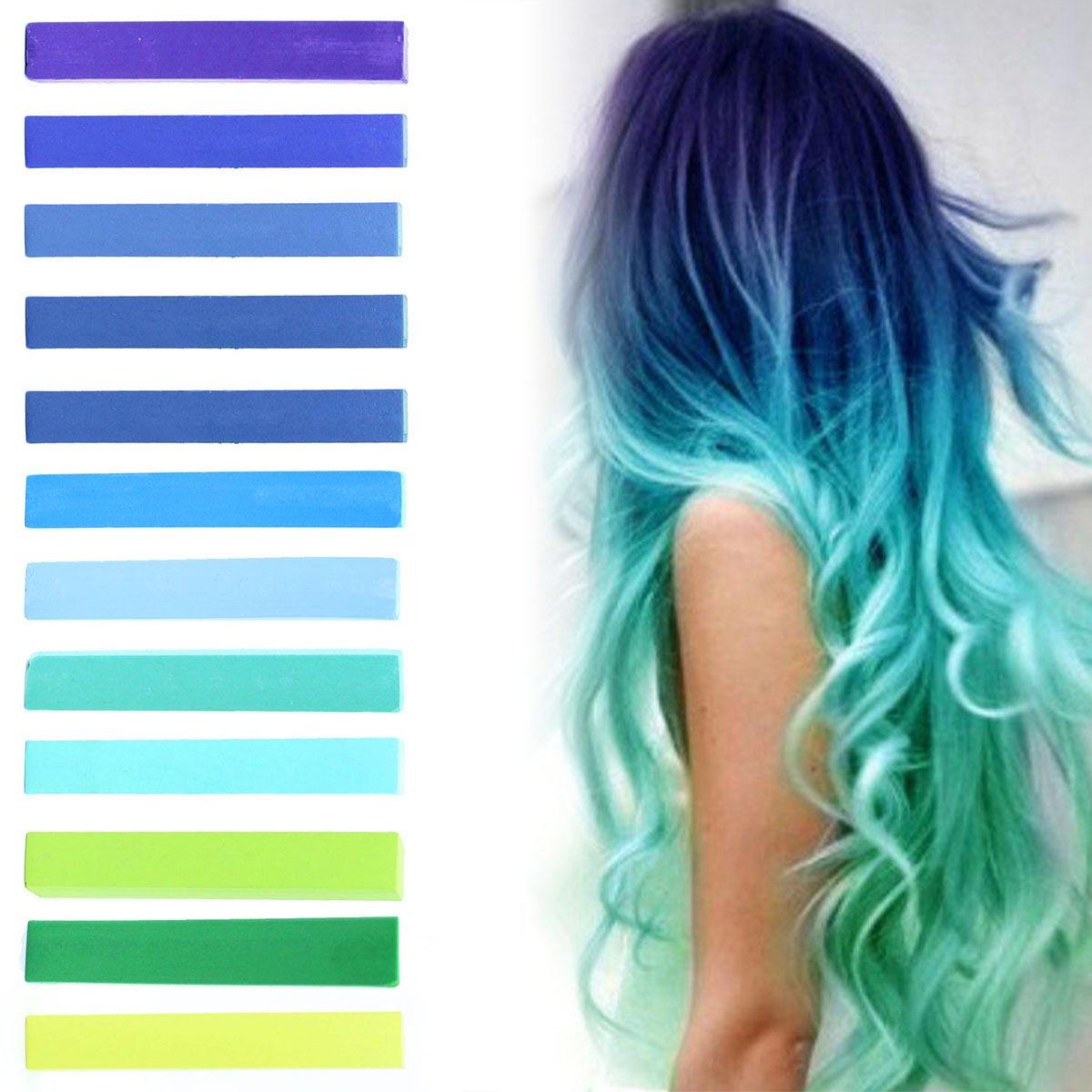 Pastelové barvy – vzorník pro ombre hair chalk.