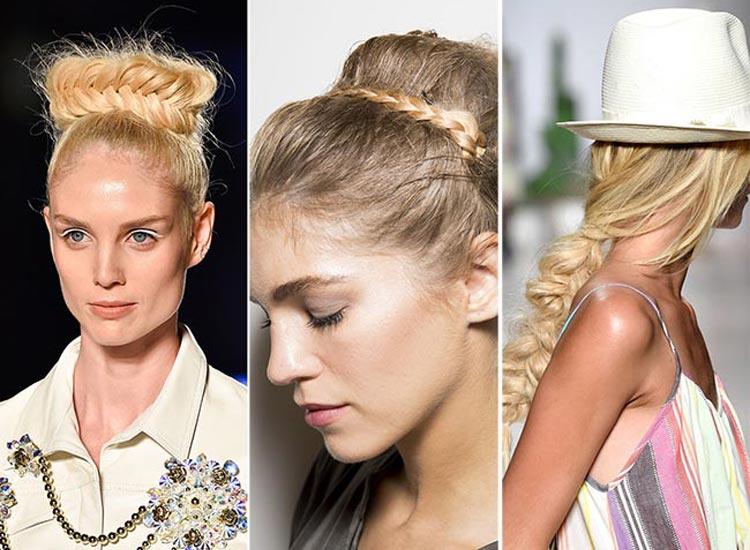 Trendy účesy jaro/léto 2015: Pletené účesy.