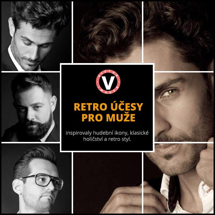Retro účesy pro muže – pánské účesy z módní kolekce od Victor Imagen nazvaná Oldies But Googdies.