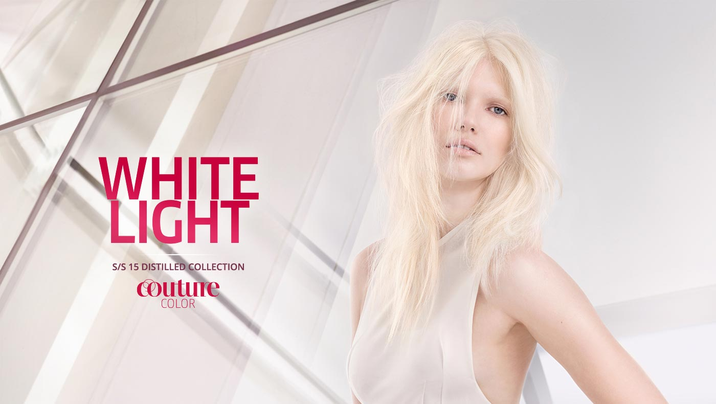 Wella účesy S/S 2015: blond vlasy White light