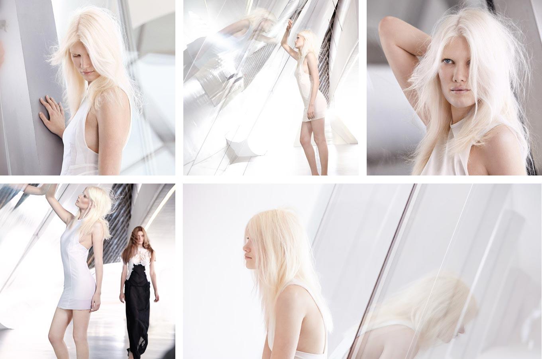 Wella účesy jaro/léto 2015 – andělsky světlé blond vlasy na sestříhaných dlouhých vlasech. Účes je z kolekce Wella Professionals Distilled Collection – Spring/Summer 2015