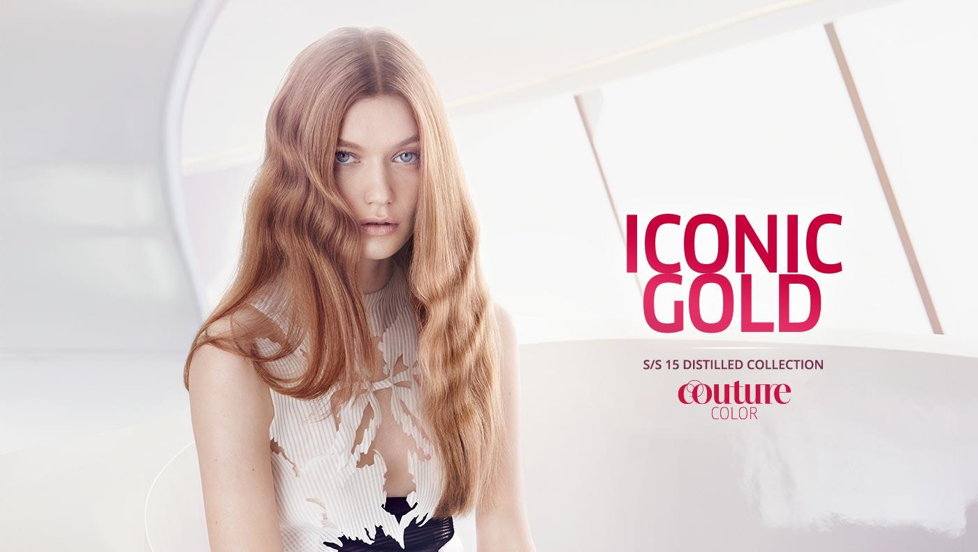 Wella účesy S/S 2015: teplý blond Iconic gold