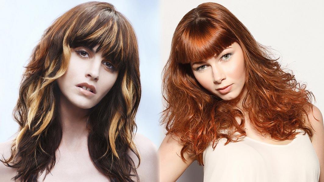 Sestříhané dlouhé vlasy s ofinou – dva módní trendy 2015 v jednom účesu.