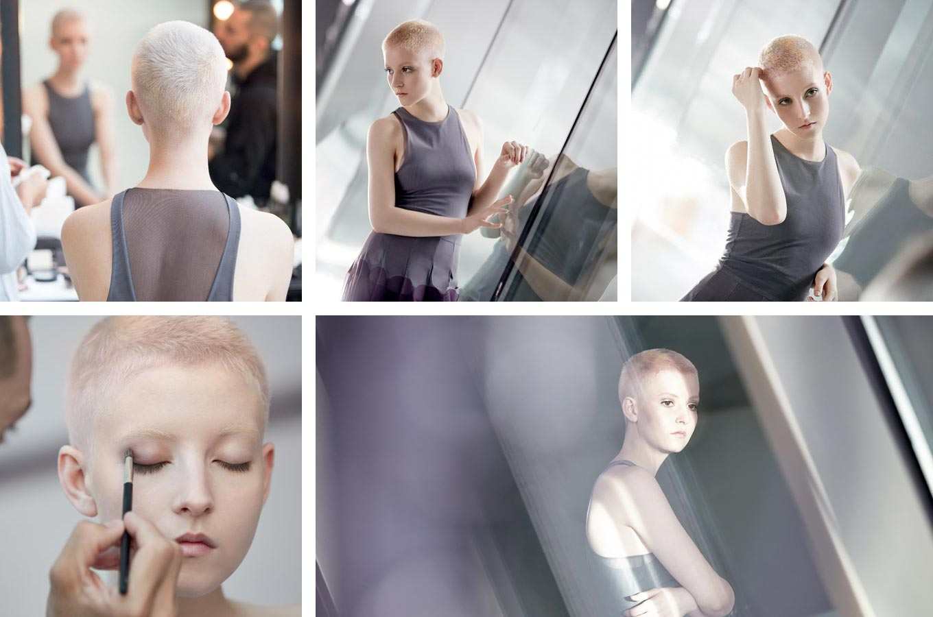 Wella účesy jaro/léto 2015 – extrémně krátký střih a kreativní tónování charakterizují nový blond účes Wella. Účes je z kolekce Wella Professionals Distilled Collection – Spring/Summer 2015.