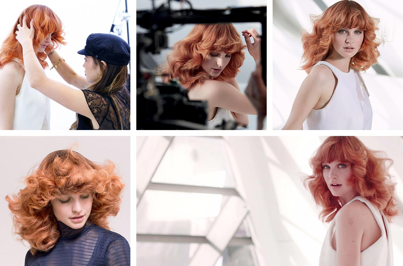 Wella účesy jaro/léto 2015 – i černé vlasy mohou vypadat vzdušně a prosvětleně. Účes je z kolekce Wella Professionals Distilled Collection – Spring/Summer 2015.