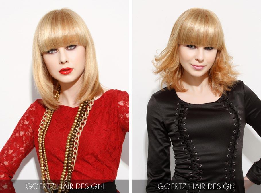 Účesy pro polodlouhé vlasy jaro/léto 2015 – středně dlouhým vlasům sluší přírodní jahodová blond.
