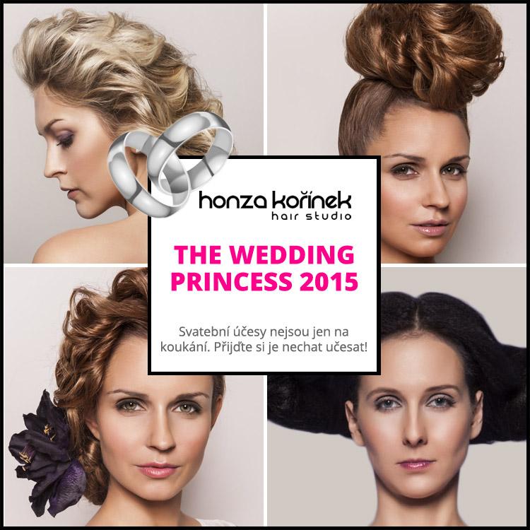 Chystáte svatbu? Svatební účesy Honzy Kořínka 2015 z kolekce The Wedding Princess nejsou jen na koukání. Přijďte si je nechat učesat!