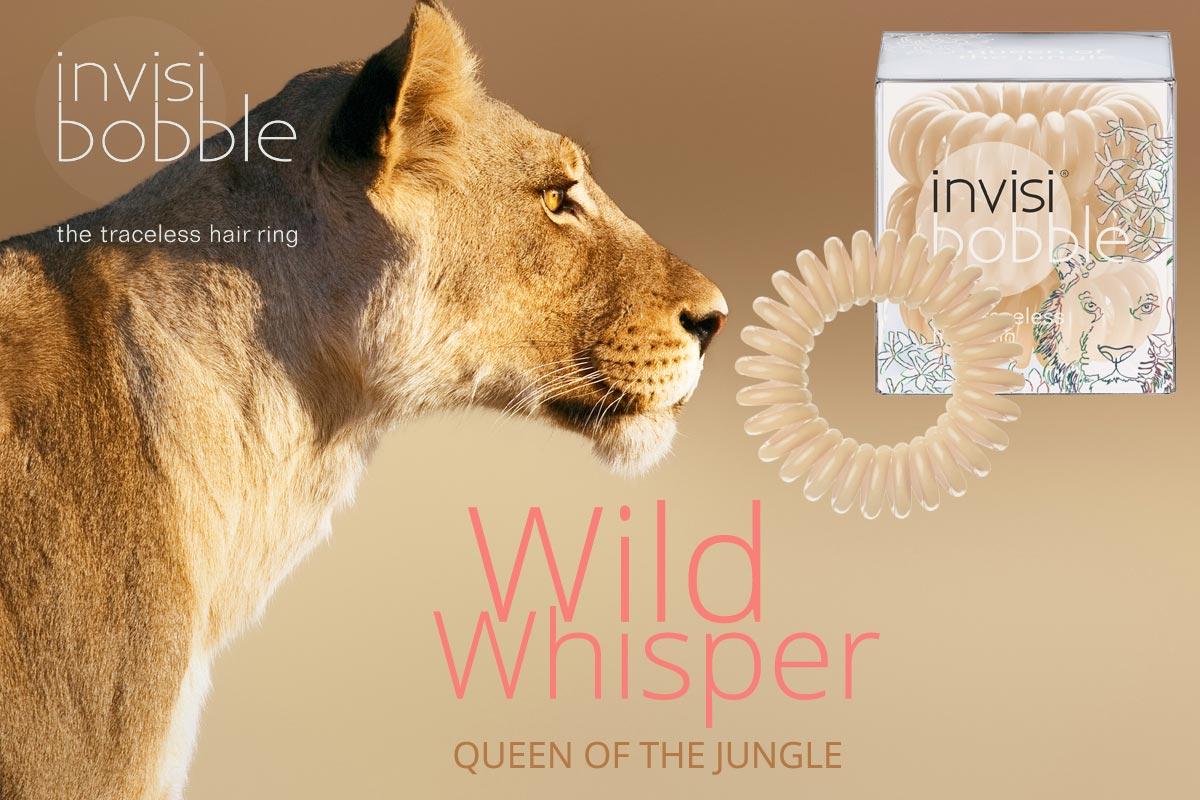 Queen of th Jungle – Invisibobble gumičky Wild Whisper – limitovaná kolekce 2015 v barvě pouště