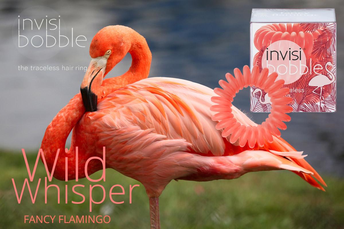 Fancy Flamingo – Invisibobble gumičky Wild Whisper – limitovaná kolekce 2015 v efektní barvě plameňáka