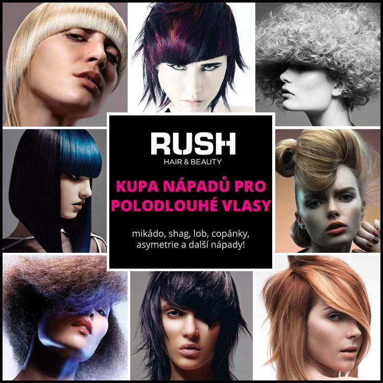 Polodlouhé účesy – inspirujte se účesy pro středně dlouhé vlasy z portfolia britského Rush.