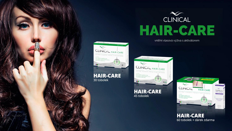 CLINICAL hair-care je vnitřní vlasová výživa s aktivátorem, která pozitivně ovlivní zdraví, krásu i růst našich vlasů.