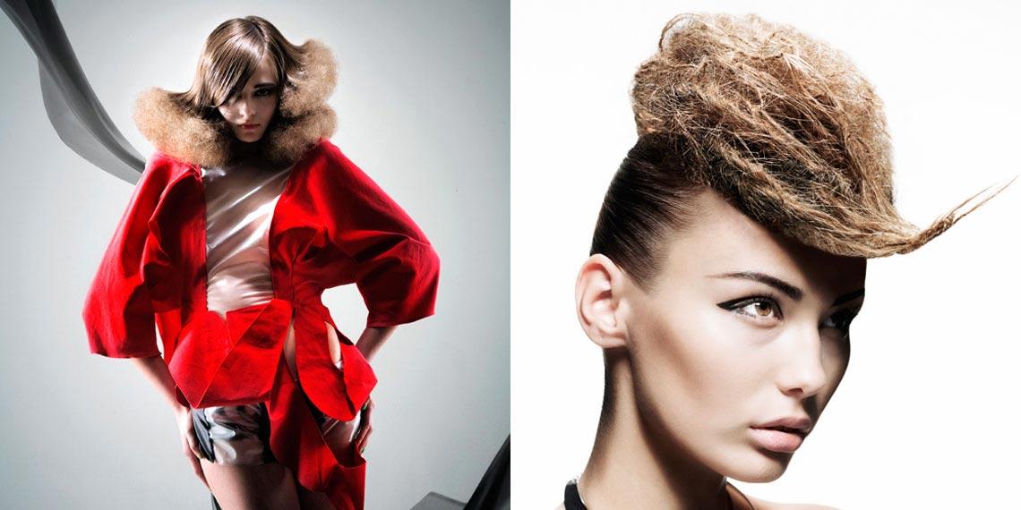 Extravagance účesu pro dlouhé vlasy může stát na textuře a kombinaci kontrastních textur.