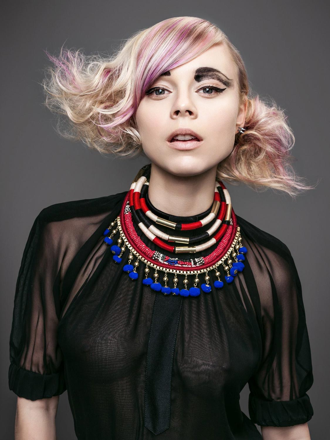 Andrea Blahová, Salon TOP, Třebíč – nominace v soutěžní kategorii Color Zoom Collection 2015 GLOBAL CREATIVE COLORIST.
