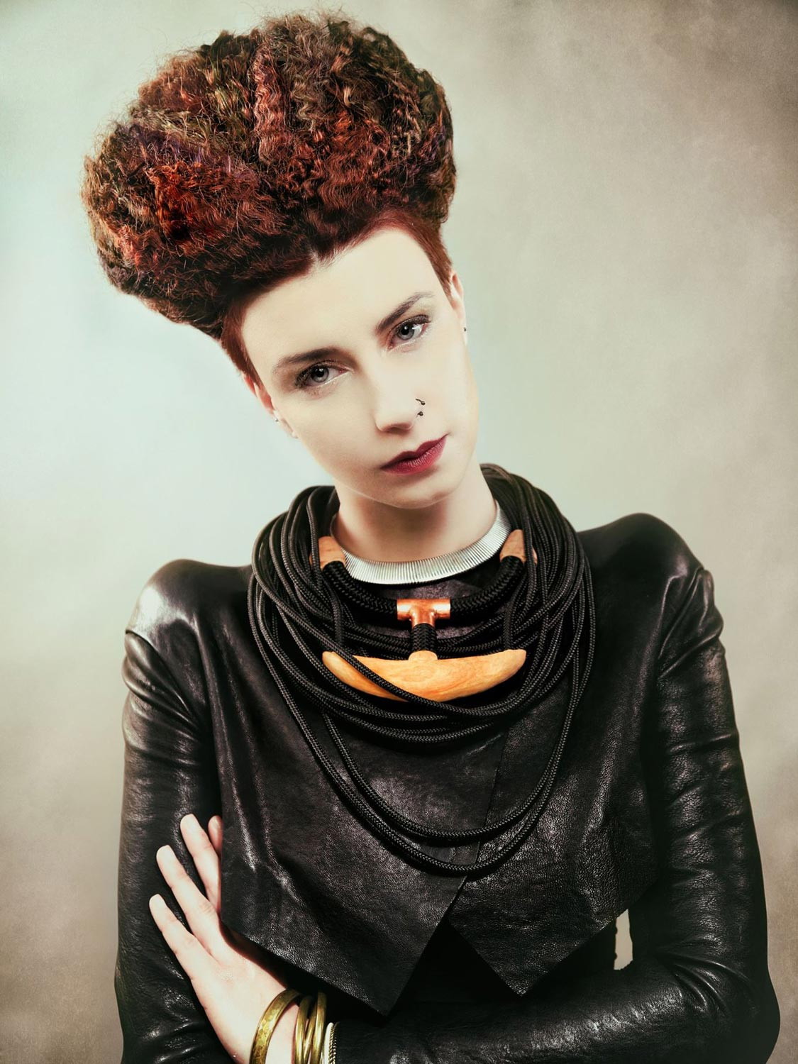 Michaela Kobylková, Salon Na stejné vlně, Brno – nominace v soutěžní kategorii Color Zoom Collection 2015 GLOBAL CREATIVE COLORIST.