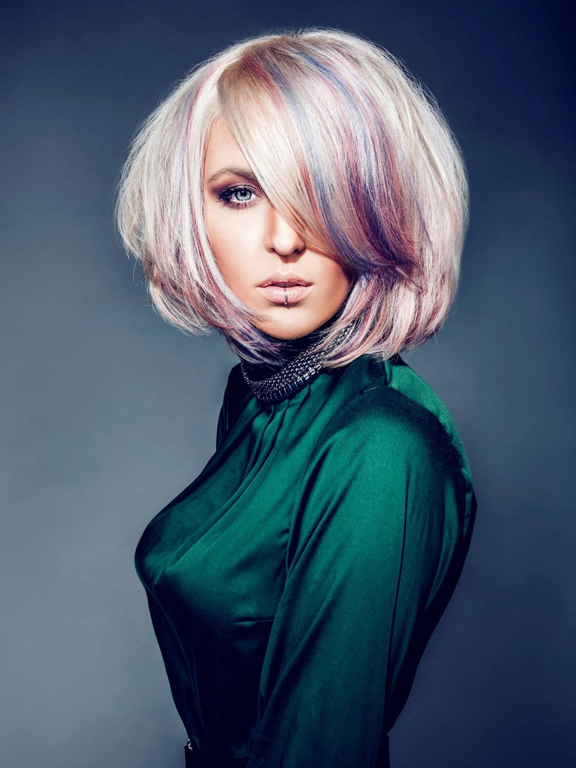 Patrik Hagara, Kadeřnictví Sanett, Praha – nominace v soutěžní kategorii Color Zoom Collection 2015 GLOBAL NEW TALENT COLORIST.