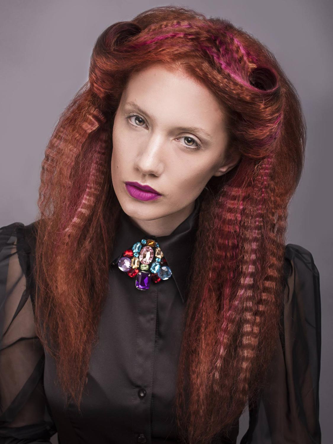 Andrea Medková, Salon MiMaXIV, Brno – nominace v soutěžní kategorii Color Zoom Collection 2015 GLOBAL PARTNER COLORIST.