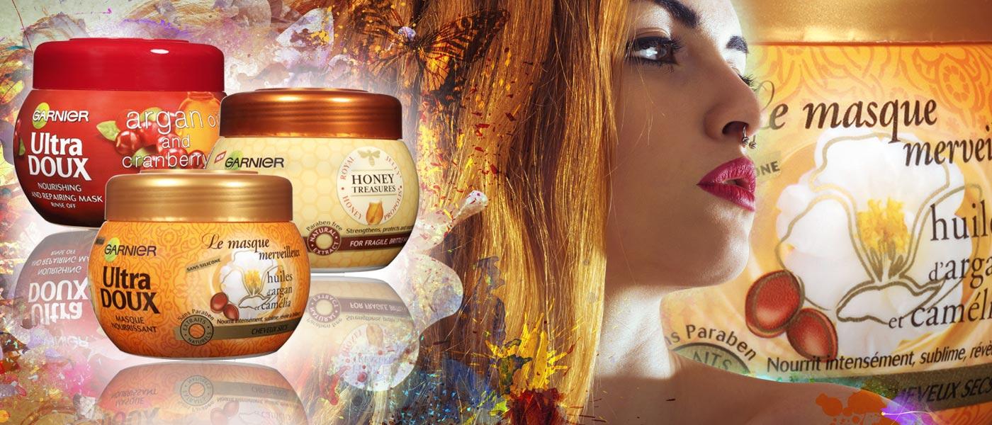 Vlasy pravidelně regenerujte! Nestačí používat šampón a kondicionér, chce to výživné masky na vlasy, jaké jsou například v řade Garnier Ultra Doux