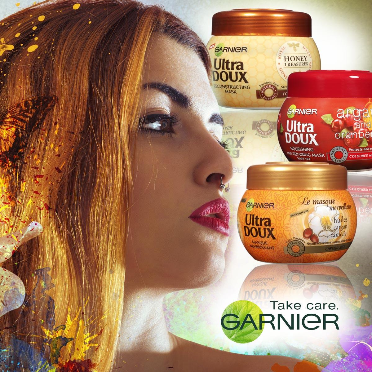 Masky na vlasy Garnier Ultra Doux jsou novinkou léta 2014.