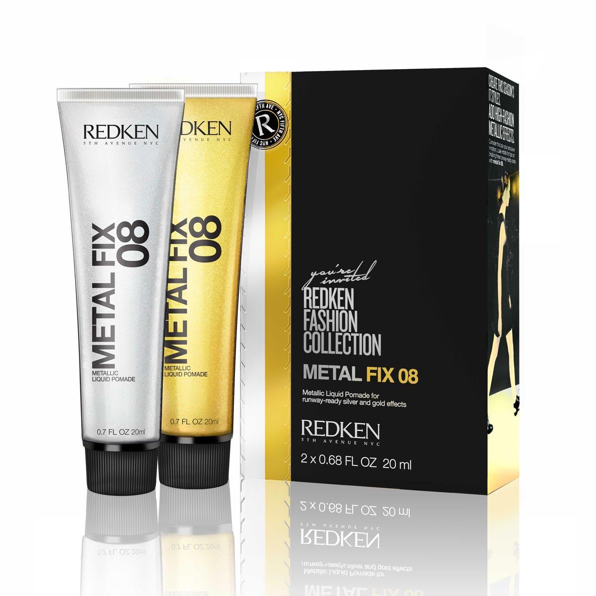 Zlato a stříbro do vlasů dodá pomáda, čili gel na vlasy od Redken. Metal Fix 08 koupíte v salonech Redken za cenu 498 Kč /19 €.